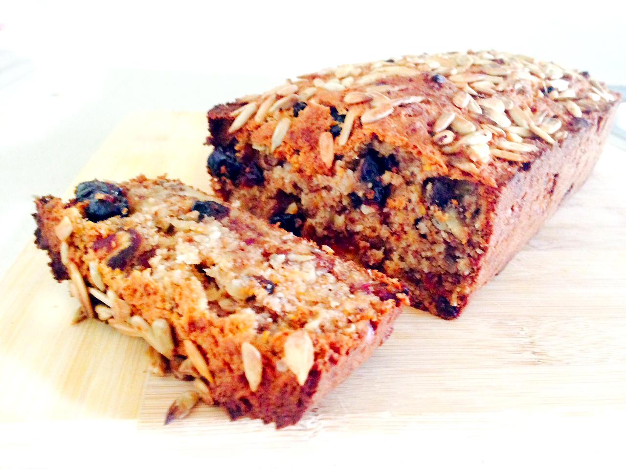 Spiced Carrot, Date + Banana Breakfast Loaf | Get Nakie